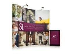 Printed 3x3 Pop Up exhibition stand for Steven Hanna Photography in Ireland from September 2012. Check out Steven Hanna's work here: http://www.stevenhanna.co.uk. Buy Pop up display stands UK online from XL Displays - 3x3 shown here for only £497 + UK delivery.
