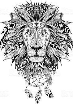lion mandala drawing * lion mandala tattoo ` lion mandala ` lion mandala svg ` lion mandala tattoo for women ` lion mandala tattoo design ` lion mandala drawing ` lion mandala tattoo men ` lion mandala art Indian Feather Tattoos, Feather Tattoo Meaning, Lion Drawing, Shirt Drawing, Lion Art, Mandala Drawing, Mandala Tattoo, Animal Coloring Pages, Animal Heads