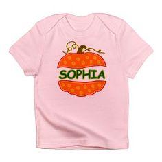 Custom Pumpkin with name Sophia Infant T-Shirt