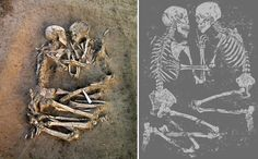 the Lovers of Valdaro. How beautiful. 6,000 year old neolithic couple found in mantua, Italy. Amazing.