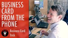 The business card appears magically on the mobile phone from nowhere. All of the sudden, the business cards leaves the mobile phone and gets real. See how I . Learn Magic Tricks, Magic Hands, Card Tricks, Business Cards, Smartphone, Entertaining, Teaching, Books, Life