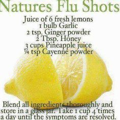 Good remedy.  Nature's cure heals. #flushot #naturopathy