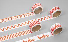 bande Box pour les spécialistes de liaison suisse Bubu par studio de design graphique Bob design