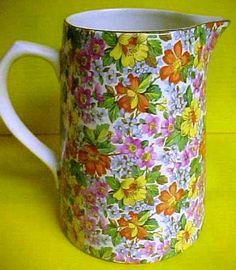 Image detail for -chintz lord nelson pottery milk pitcher in the country lane pattern ...