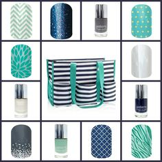 For the bag ladies! Get matching nails!  Www.easypeasynailart.jamberrynails.net