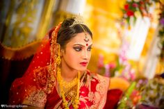 """Every Indian bride is a true representative of """"beauty in diversity"""" and here we bring to you the beautiful brides from different parts of India. Indian Wedding Jewelry, Indian Bridal, Indian Jewelry, Bengali Bride, Photography Day, Traditional Indian Wedding, Red Lehenga, Bridal Shoot, Best Wedding Photographers"""