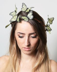 Hey, I found this really awesome Etsy listing at https://www.etsy.com/listing/127933106/yellow-butterfly-crown-wedding-bride