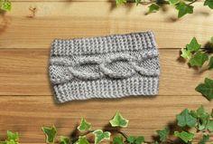 Knitting Headband Ear Warmer Dark Purple Oatmeal от LoveKnittings