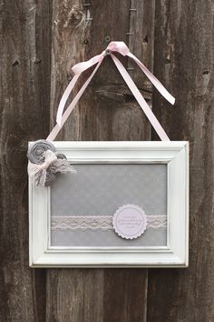 DIY May Pinterest Project: ribbon hanging photo frame