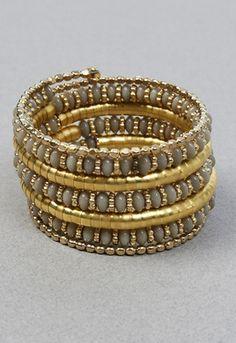 Beaded Coil Bracelets