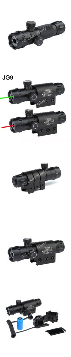 Tactical Red Green dot Sight laser Riflescope including 11mm and 20mm mounts with tactical tail switch #JG9 for hunting