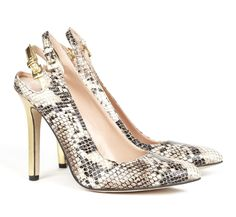 You can never, EVER go wrong with snakeskin! - Sole Society Shoes - Slingback pumps - Reanna