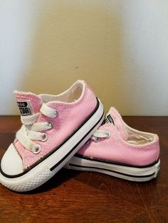 3adfd076feae82 Converse All Star Low Top Pink Canvas Infant Toddler Girl Shoes Size 3   fashion