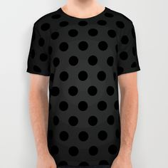 SOLD All Over Print Shirt BlackPolka Dots G61!  #Society6 #AllOverPrintShirt #Black #Polka #Dots #pois #black #polkadot https://society6.com/product/blackpolka-dots_all-over-print-shirt#57=422