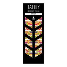 Tattify Abstract Nail Wraps - Trippy Hippie (Set of 22)