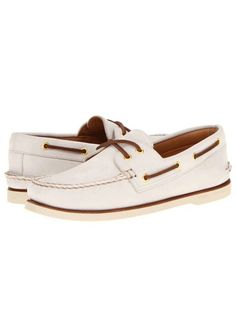 b0ec7146de9 SPERRY TOP SIDER MENS BOAT SHOE GOLD CUP A O 2 EYE IVORY SIZE 7.5