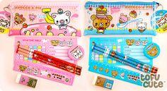 Kawaii Bear Pencil Case & Stationery Set.