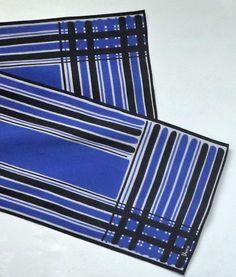 Vintage 70s Vera Neumann Long Scarf Unisex Blue by MushkaVintage3