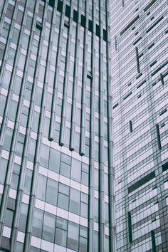 urban skyscraper glass wall