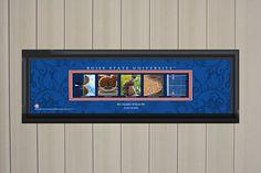 Personalized University of Kansas Letter Art Print Blue College Letters, Boise State University, Letter Art, Blue Backgrounds, Wall Art Prints, Lettering, Handmade Gifts, Etsy, Vintage