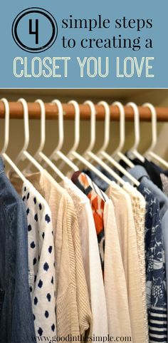 Closet organization made simple. No need to buy any fancy organizational systems or get rid of tons of clothing. Make the most of what you have and create a functional, pretty, and organized closet you'll be happy to see every day.