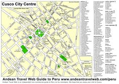 peru+attractions | Peru Maps - A selection of visitors maps of the main cities in Peru ...