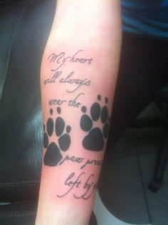 What does paw print tattoo mean? We have paw print tattoo ideas, designs, symbolism and we explain the meaning behind the tattoo. Tribal Tattoos, Tattoos Skull, Dog Tattoos, Body Art Tattoos, Tatoos, Owl Tattoo Chest, Tattoo Owl, Tattoo Ribs, Remembrance Tattoos