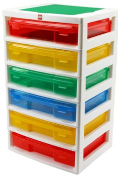 LEGO storage! 6-case Workstation and Storage Unit