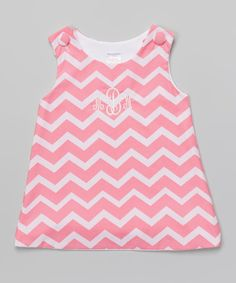 Pink Zigzag Monogram Jumper - Infant & Toddler by Lollypop Kids Clothing #zulily #zulilyfinds