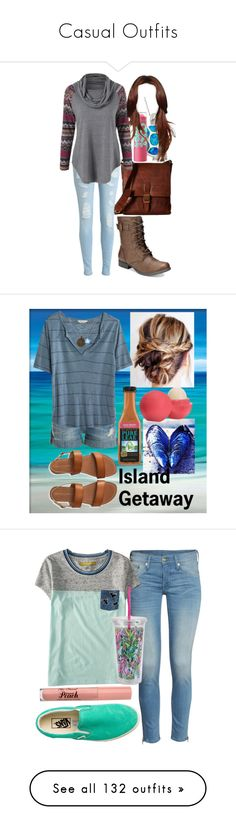"""""""Casual Outfits"""" by horselover35125 ❤ liked on Polyvore featuring Frye, American Rag Cie, Maybelline, casualoutfit, Current/Elliott, Madewell, Aéropostale, Disney, Eos and beachlife"""