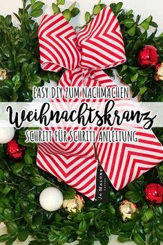 Möchtet ihr gerne zu Weihnachten eure Deko selber basteln? Wie wäre es, neben dem klassischen Adventskranz mal mit einem festlichen Weihnachtskranz für die Tür? In meinem DIY Weihnachtskranz Basteln, zeige ich euch in einer Schritt für Schritt Anleitung, wie ihr einfach und schnell einen tollen Kranz nachbasteln könnt. Klickt hier und gelangt zu meinem DIY Weihnachtskranz Basteln mit Jo Malone London Berlin.