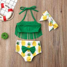 Tangy Pineapple Fringe Swimsuit With Matching Headband from kidspetite.com!  Adorable & affordable baby, toddler & kids clothing. Shop from one of the best providers of children apparel at Kids Petite. FREE Worldwide Shipping to over 230+ countries ✈️  www.kidspetite.com  #swim #infant #swimsuit #baby #swimwear #girl #beach #newborn Pineapple Bathing Suit, Baby Girl Newborn, Baby Girls, Toddler Girls, Kids Girls, Fringe Swimsuit, Kids Sportswear, Hot Dads, Swim Sets