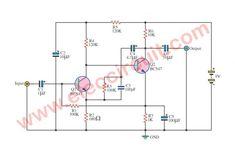 Simple pre-amplifier using BC547 transistors