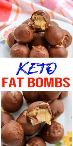 5 Ingredient Keto Chocolate Fat Bombs - BEST Chocolate Peanut Butter Balls Fat Bombs - Easy NO Sugar Low Keto fat bombs are one of my favorite things to make and these low carb keto peanut butter chocolate ball fat bombs are no exception. No Sugar Desserts, Low Carb Desserts, Low Carb Recipes, Holiday Desserts, Stevia Desserts, Birthday Desserts, Cheese Recipes, Fish Recipes, Recipies