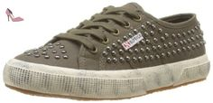 Superga - S0072Y0 - Chaussures, vert (a55 military), taille 35 - Chaussures superga (*Partner-Link)