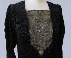 1920s Dress / 20s METAL Lame Yoke Flapper VAMP Dress by GuermantesVintage