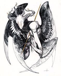 The Mourning Star Art Print by Natalie Hall - X-Small Art Sketches, Art Drawings, Arte Dark Souls, Tatoo Art, Creepy Art, Creature Concept, Creature Design, Dark Art, Framed Art Prints