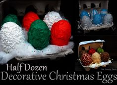 Half Dozen Decorative Christmas Eggs featuring Tonia from The Gunny Sack