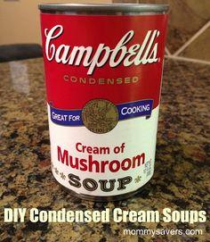 homemade condensed cream soups