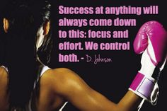 Success at anything will always come down to this: focus and effort. We control both. - Dwayne Johnson
