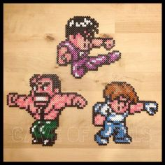 Mighty Final Fight perler beads by caveofpixels