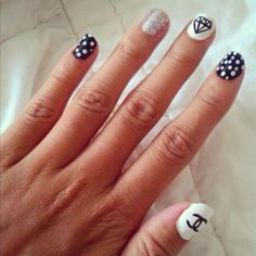 An old picture of my nails. They were actually quite easy to do :)