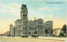 vintage louisville ky | Vintage Post Cards from Louisville - City Hall