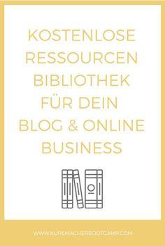 Downloade kostenlos nützliche Ressourcen für dein Blog & online Business.