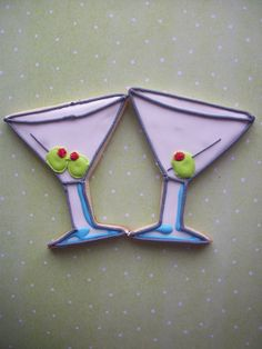 Martini Glass With Olive Cookies