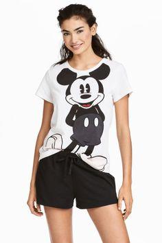 Pijama de dos piezas - Blanco/Mickey Mouse - MUJER | H&M ES 1