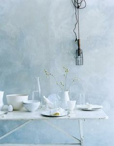 {pale blue} love the color and texture xc