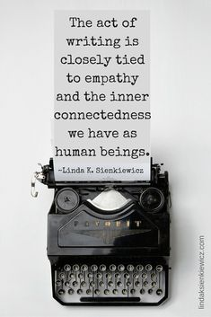 The act of writing is closely tied to empathy.... #canvacup #quote