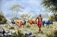 There are original African artists - and there is Geoffre Mugwe. In a class by himself, Mugwe has aligned himself with one particular gallery in Nairobi and Kenyan Artists, African Artists, Livestock, Cattle, Art Images, Cow, Horses, Gallery, Farming