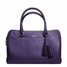 Purple Coach Haley Leather Satchel - LOVE!